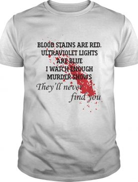 Blood Stains Are Red Ultraviolet Lights Are Blue Short shirt