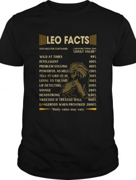 Leo Facts Serving per container Daily Value shirt