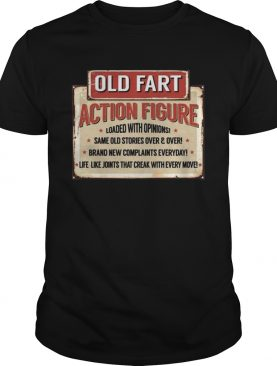 Old Fart Action Figure For Old Man Club shirt