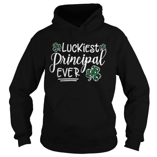 Shamrock luckiest principal ever  Hoodie
