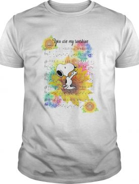 Snoopy And Sunflower You Are My Sunshine shirt