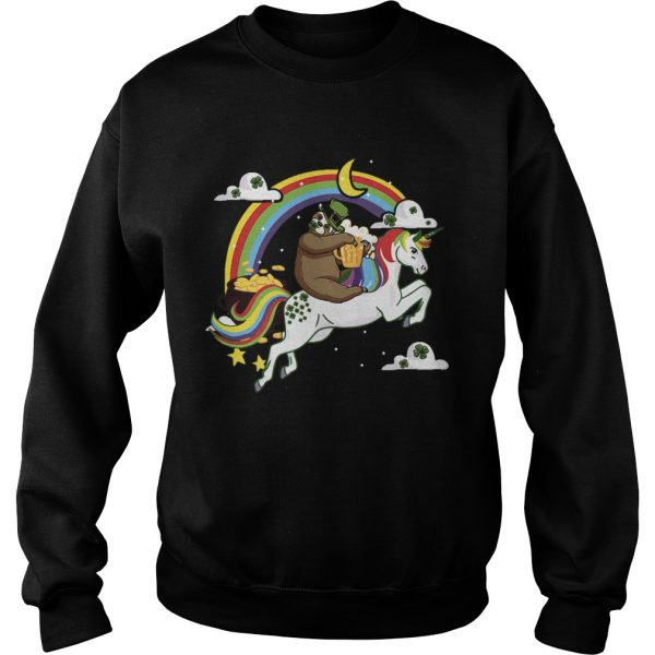 St Patricks Day Sloth on a Unicorn  Sweatshirt