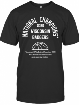2020 National Champions Wisconsin Badgers T-Shirt