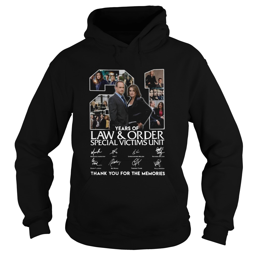 21 Years Of Law And Order Special Victims Unit Thank You For The Memories Signatures  Hoodie