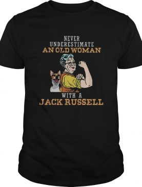 An Old Woman with a Jack Russell shirt