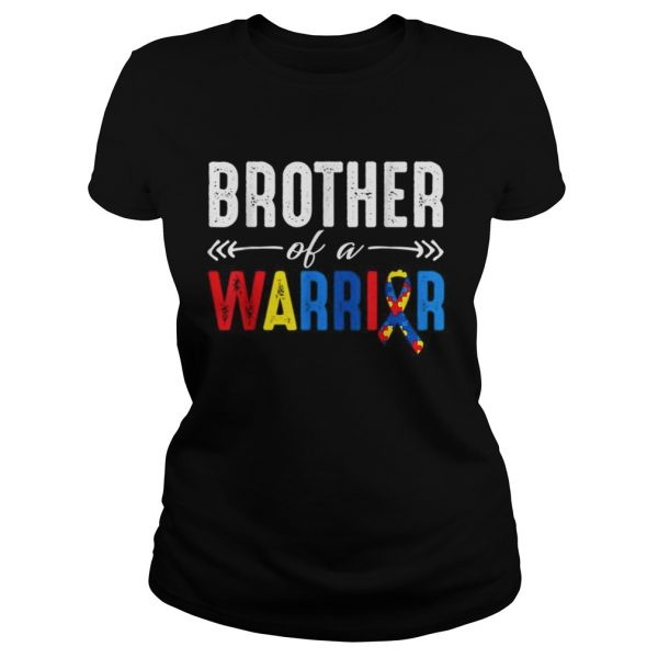 Brother of a Warrior Autism Awareness  Classic Ladies