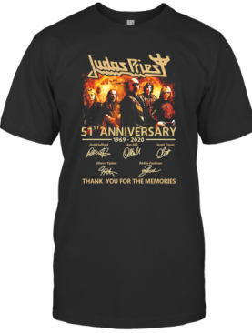 Judas Priest 51St Anniversary 1969 2020 Signatures Thank You For The Memories T-Shirt