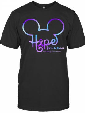 Mickey Hope For A Cure Epilepsy Awareness T-Shirt