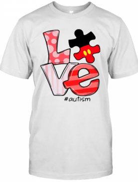 Mickey Mouse Love Autism T-Shirt