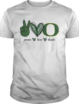 Peace Love Oregon Ducks logo shirt