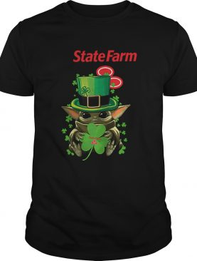 Star Wars Baby Yoda State Farm Shamrock St Patricks Day shirt