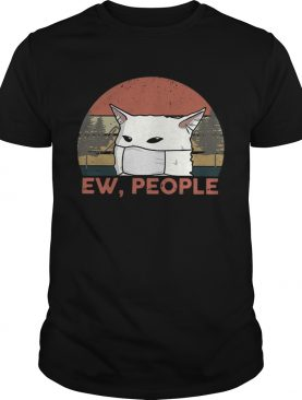 Vintage Ew People Woman Yelling Cat Mask shirt