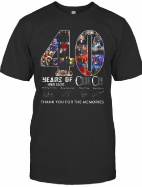 40 Years Of Culture Club 1980 2020 Thank You For The Memories Signature T-Shirt