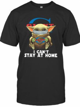 Baby Yoda Face Mask Old Giant Food Can't Stay At Home T-Shirt