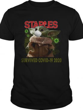 Baby Yoda Staples Survived Covid 19 2020 shirt