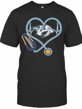Heartbeat Nurse Nashville Predators T-Shirt