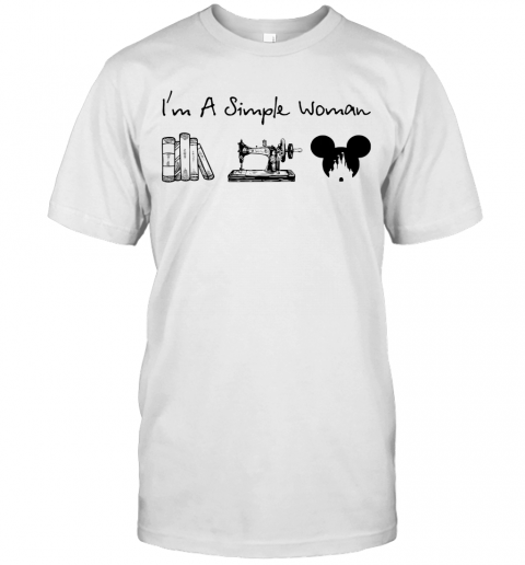 I'M A Simple Woman Book Sewing Mickey Mouse T-Shirt Classic Men's T-shirt