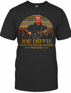 Joe Diffie Thank You For The Memories 1958 2020 Vintage T-Shirt
