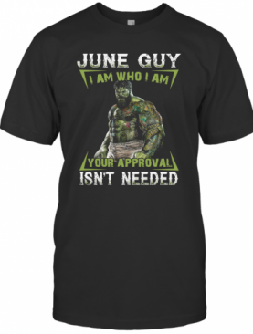 June Guy I Am Who I Am Your Approval Isn't Needed T-Shirt
