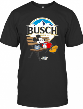 Mickey Mouse Drink Busch Beer T-Shirt
