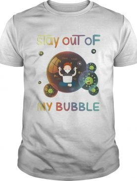 Stay out of my bubble java html css Covid19 mask shirt