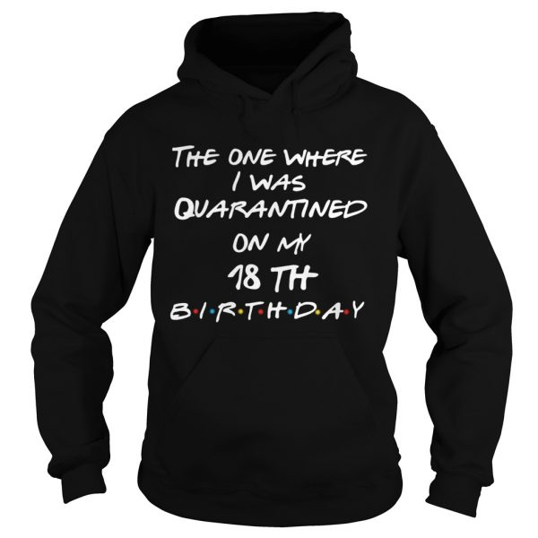 The one where I was quarantined on my 18th birthday  Hoodie