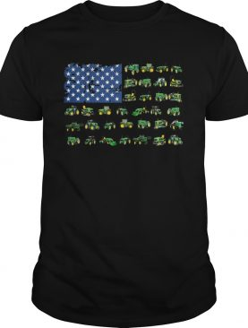 green trucks american flag shirt