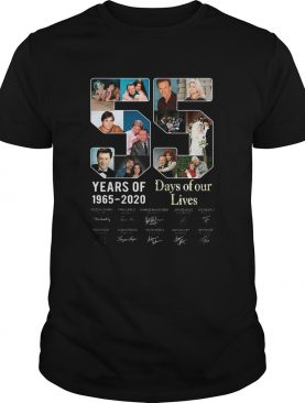 55 Year Of Days Of Our Lives 1965 2020 Signatures shirt