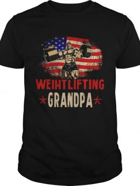 American Flag Weightlifting Grandpa shirt