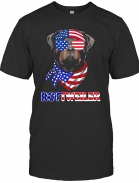 Independence Day Rottweiler Glasses America T-Shirt