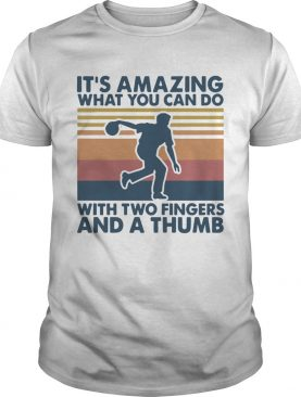 Its Amazing What You Can Do With Two A Fingers And A Thumb Vintage shirt