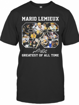 Mario Lemieux 66 Greatest Of All Time Signature T-Shirt