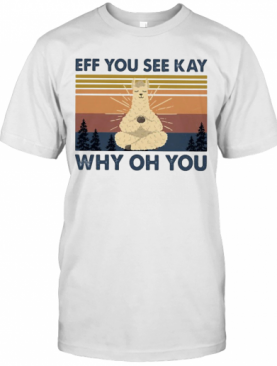 Sheep Yoga Eff You See Kay Why Oh You Vintage T-Shirt