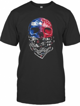 Skull Seattle Seahawks And Washington State Cougars Heart It'S In My Dna T-Shirt