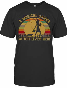 A Magical Garden Witch Lives Here Vintage T-Shirt