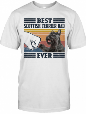 Best Scottich Terrier Dad Ever Vintage T-Shirt