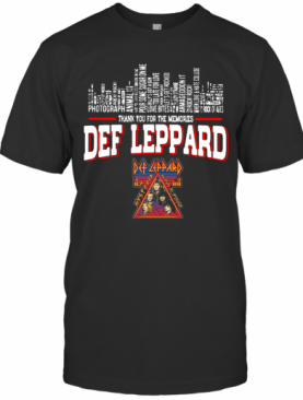 Def Leppard Thank You For Memories T-Shirt