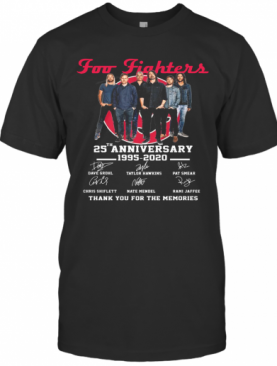 Foo Fighters 25Th Anniversary 1994 2019 Signatures T-Shirt