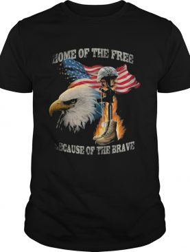 Home of the free because of the brave eagle American flag veteran Independence Day shirt