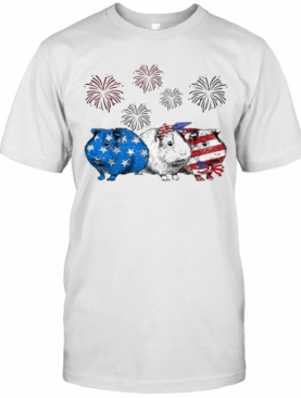 Independence Day Mouses Wear Bow Tie Firework T-Shirt