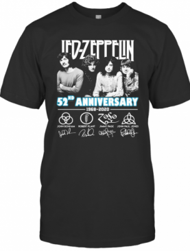 Led Zeppelin 52Nd Anniversary 1968 2020 Signatures T-Shirt