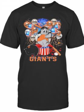 Mouse San Francisco Giants Happy Independence Day Mask Soap Firework Balloon American Flag T-Shirt
