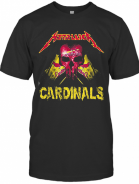 Skull Metallica St. Louis Cardinals Flag T-Shirt