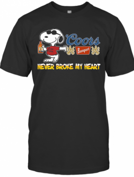 Snoopy Coors Banquet Beer Never Broke My Heart T-Shirt