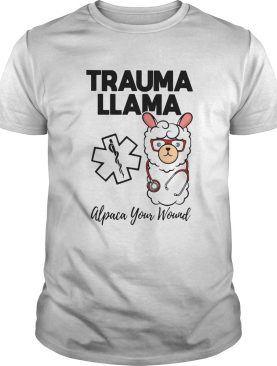 Trauma Llm Alpaca Your Wound Media Logo Lamb Ear Piece shirt