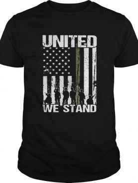 Veteran united we stand american flag independence day shirt
