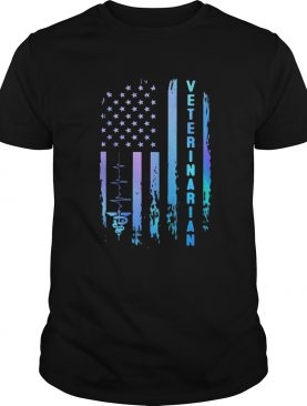 Veterinarian heartbeat american flag independence day shirt