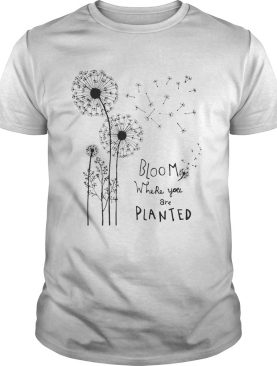Bloom Where You Are Planted shirt
