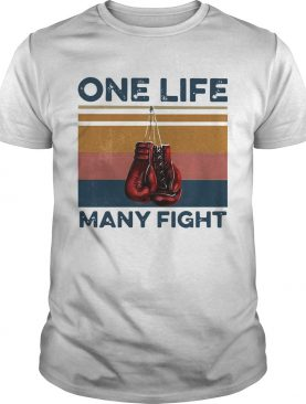 Boxing One Life Many Fight Vintage shirt