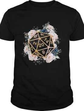 Dungeons And Dragons Dice D20 Flowers shirt